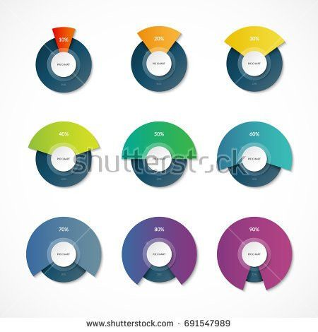 Infographic Pie Chart Templates Share 10 Stock Vector 691547989 ...