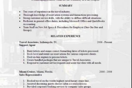 sample travel agent resume agent resume agent resume example