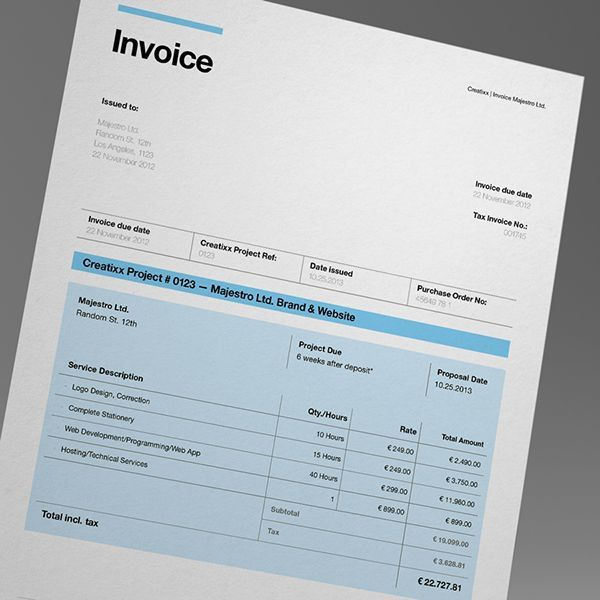 30 best templates // invoices images on Pinterest | Invoice design ...