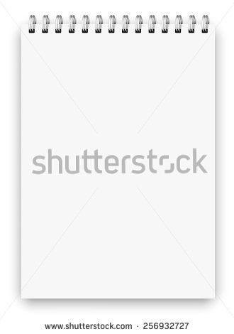 Realistic A3 Size Spiral Vertical Vector Stock Vector 206215537 ...
