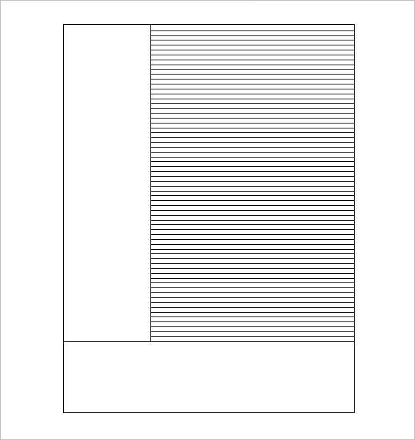 Cornell Note Pdf. Blank Cornell Notes Sheet Sample Blank Cornell ...