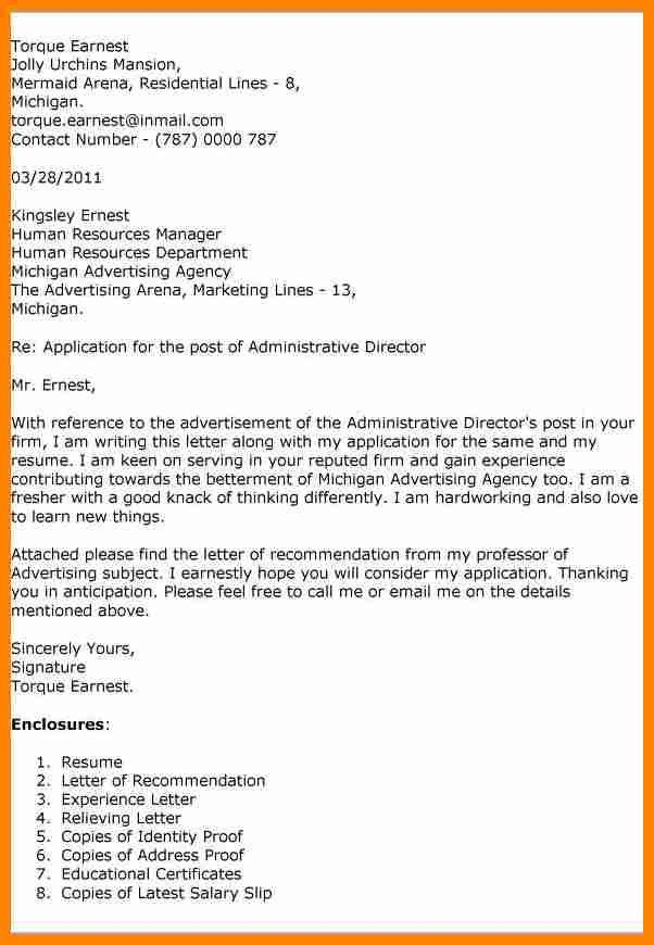 5+ what is an enclosure in a cover letter | job resumed