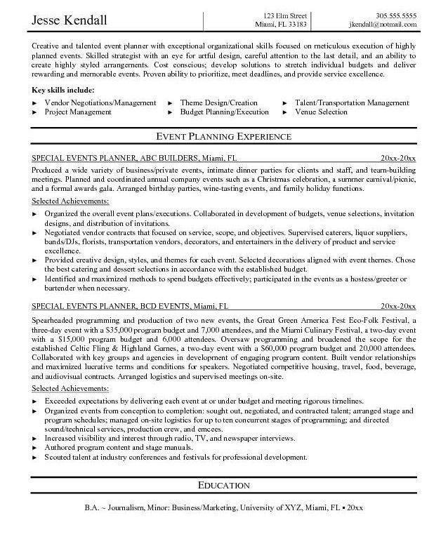 event planner resume sample resume medical scheduler resume event