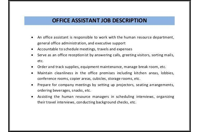 admin duties and responsibilities list office assistant job ...