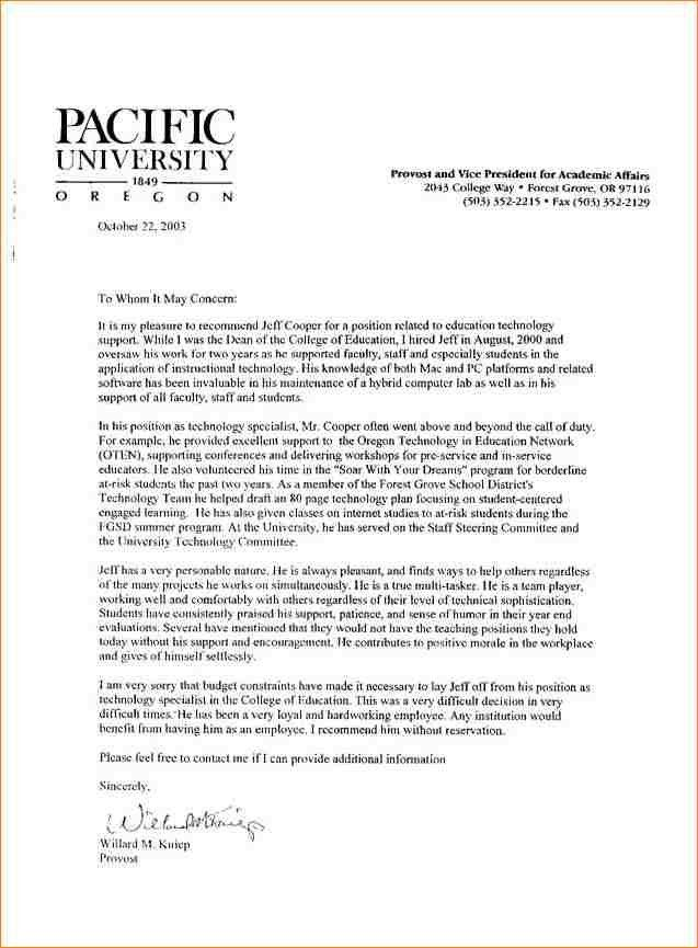 Recommendation Letters For Student. Recommendation Letter For An ...