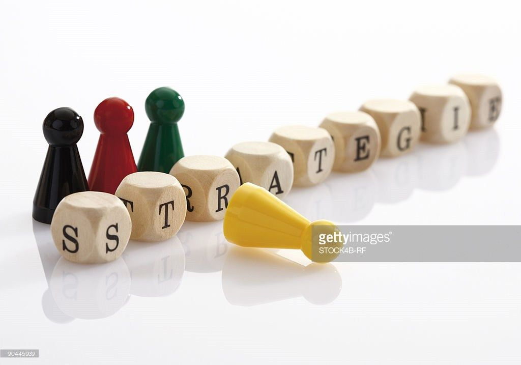 German Word For Strategy Spelled Out Of Block Letters Stock Photo ...