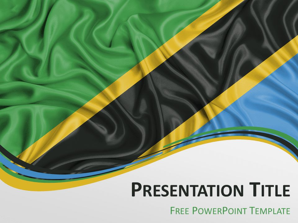 Tanzania Flag PowerPoint Template - PresentationGO.com