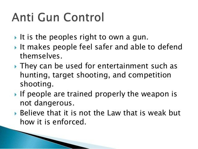 Gun control Rogerian Argument