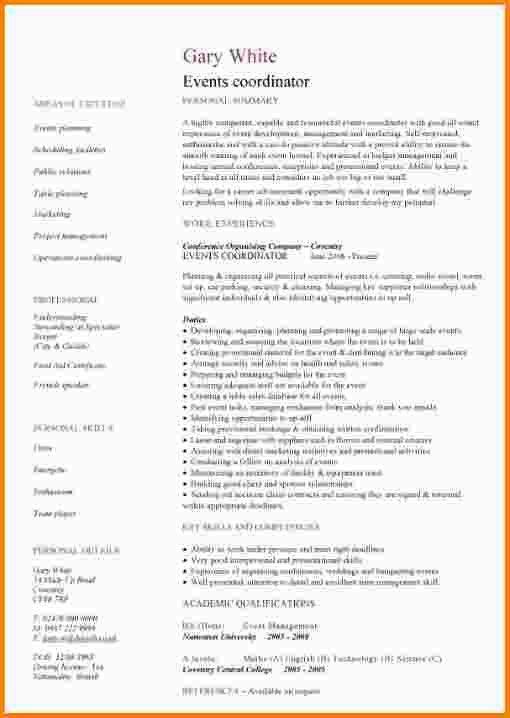 9+ event coordinator resume | nypd resume