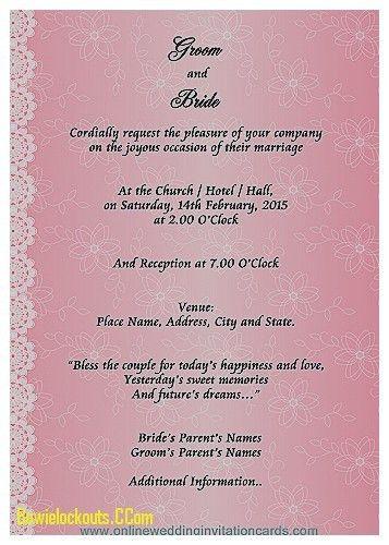 Invitation Design Ideas: Marriage Invitation Card Format ...