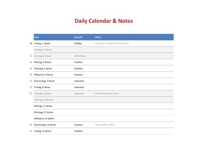 Daily Calendar Templates. Daily Hourly Schedule Printable – My ...