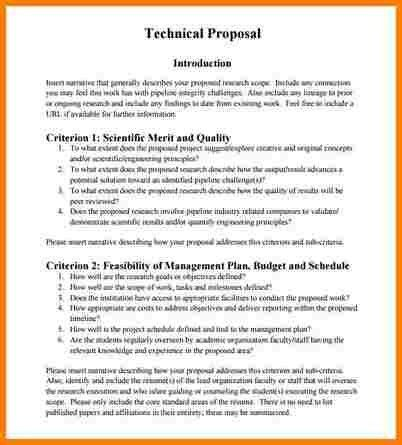 8+ technical proposal | Proposal Template 2017