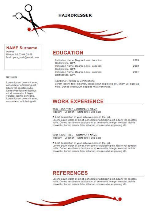Cosmetology Resume Samples 11 Template Skylogic Instructor ...