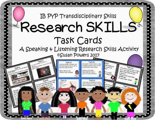 Research Skills Task Cards Activity
