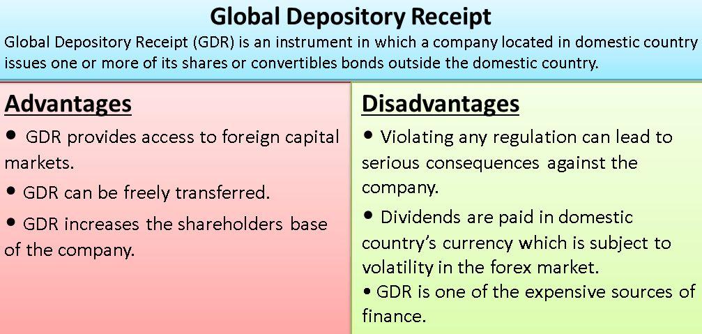 Global Depository Receipt | Advantages, Disadvantages, Example