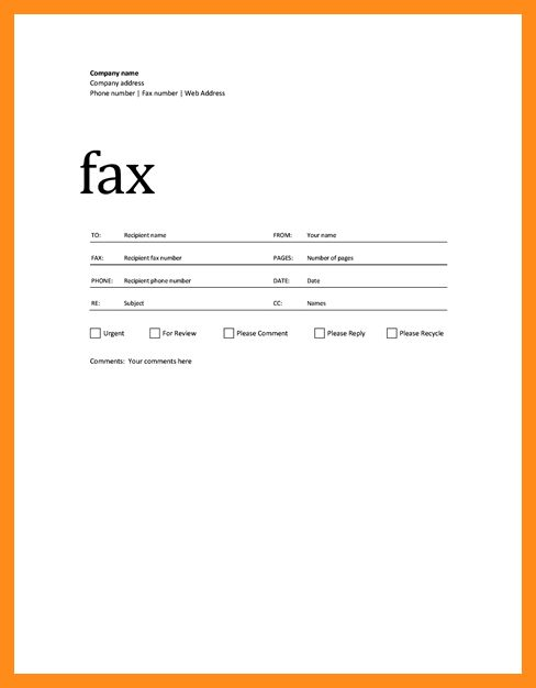 4+ fax cover page templates   resume setups