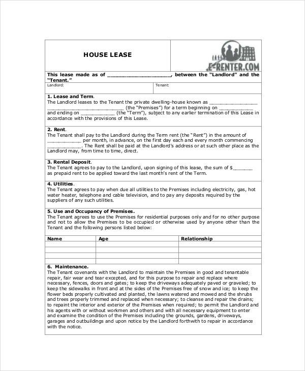 House Lease Agreement - 8+ Free Download Documents in PDF, Word ...
