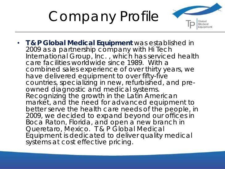 Business Presentation TP Global Medical Equipment