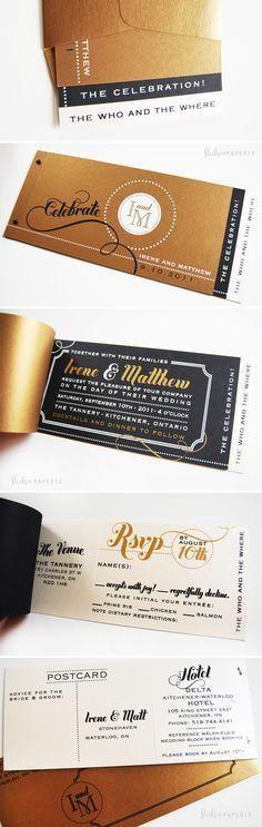 Vintage Playbill Theater Ticket Wedding Invitation | Theater ...
