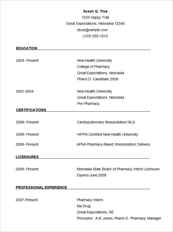 simple resume template download free basic resume examples free