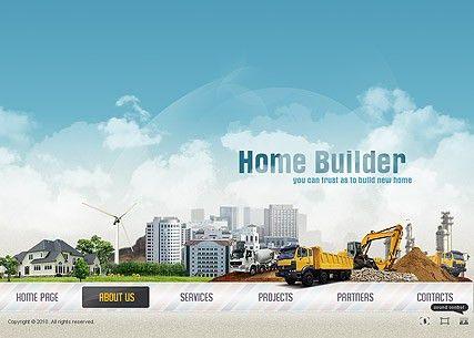 Home Builder flash website template | Best Website Templates