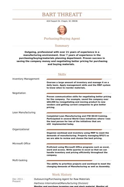 Dazzling Ideas Purchasing Resume 15 Procurement Manager CV ...