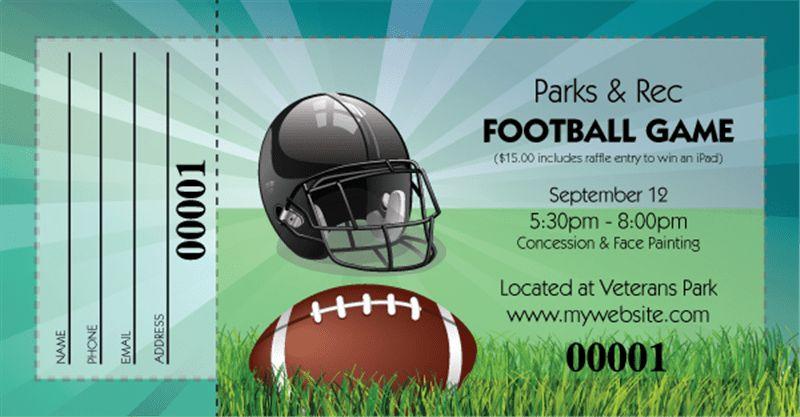 Football Fundraising Raffle Tickets