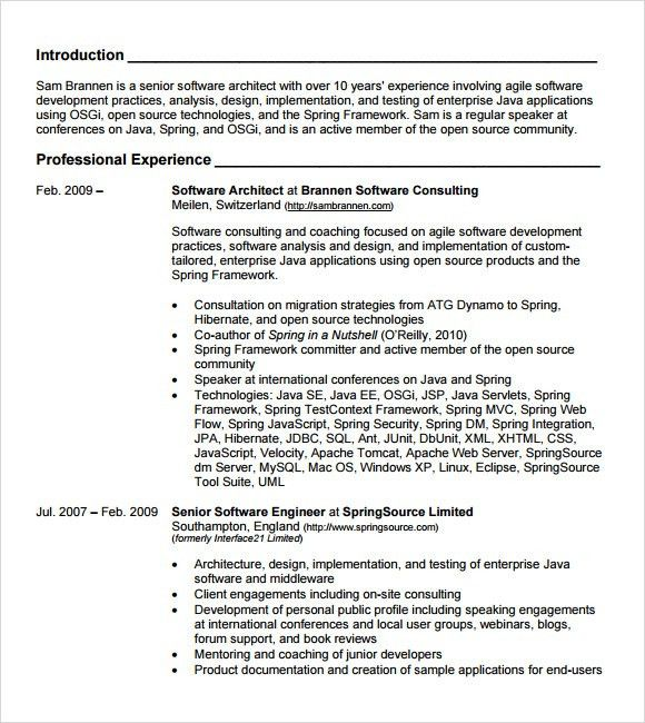 java resume sample java developer resume sample vibrant