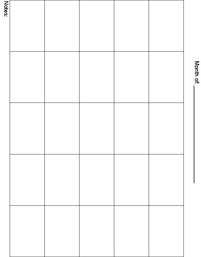 Blank Calendar Template 5 Day Week | Calendar Template 2017