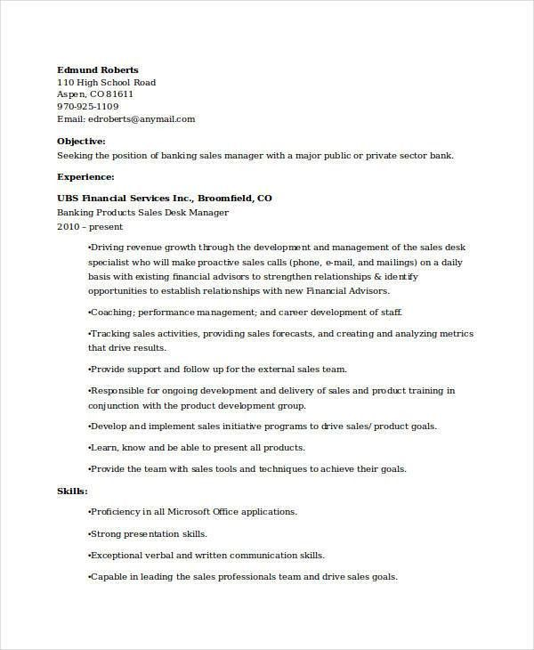 branch manager resume samples