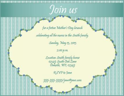 Invitations for Mother's Day