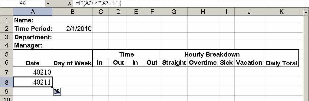 Build a simple timesheet in Excel - TechRepublic