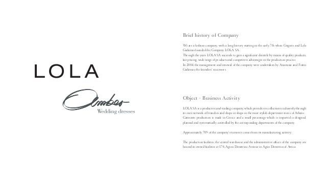 Lola - chic fashion - company profile