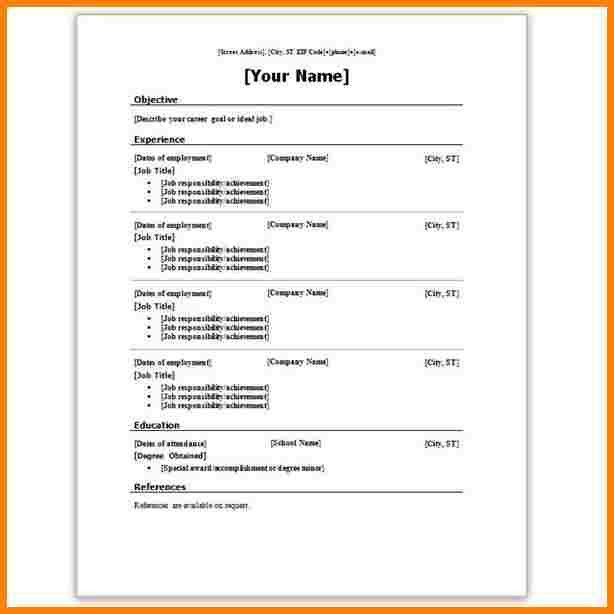 Projects Inspiration Resume Template Microsoft Word 2007 14 How To ...