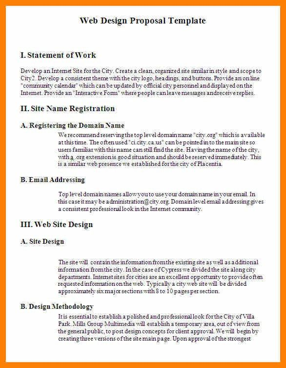 4+ web design proposal template | army memo format