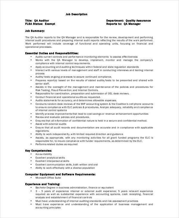 qa auditor cover letter judicial council form complaint senior ...
