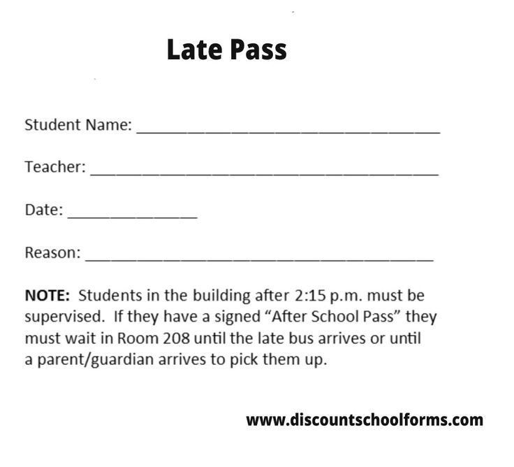 126 best Late Pass images on Pinterest | Printing, Schools and ...