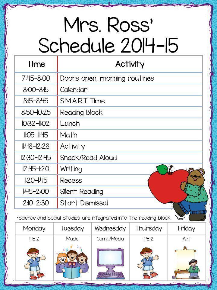 Best 25+ First grade schedule ideas only on Pinterest | Weekly ...
