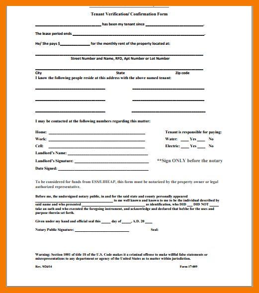 7+ tenant verification form   resume holder