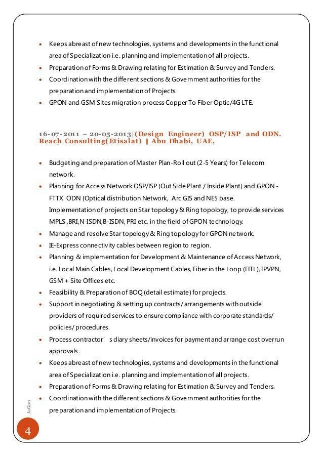 FTTX- OSP-ISP Design Engineer