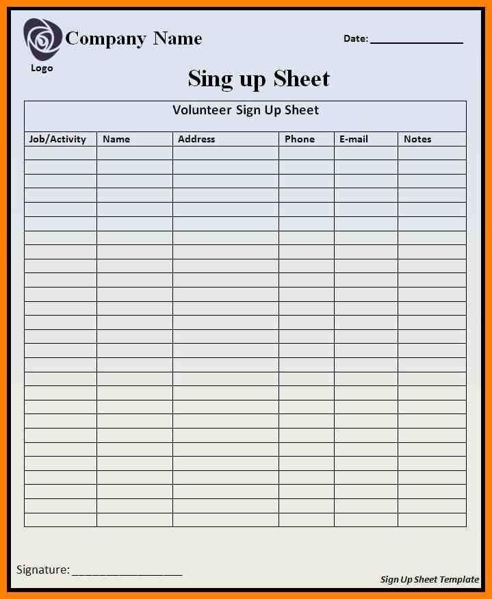 10+ sign in sheet doc | hvac resumed