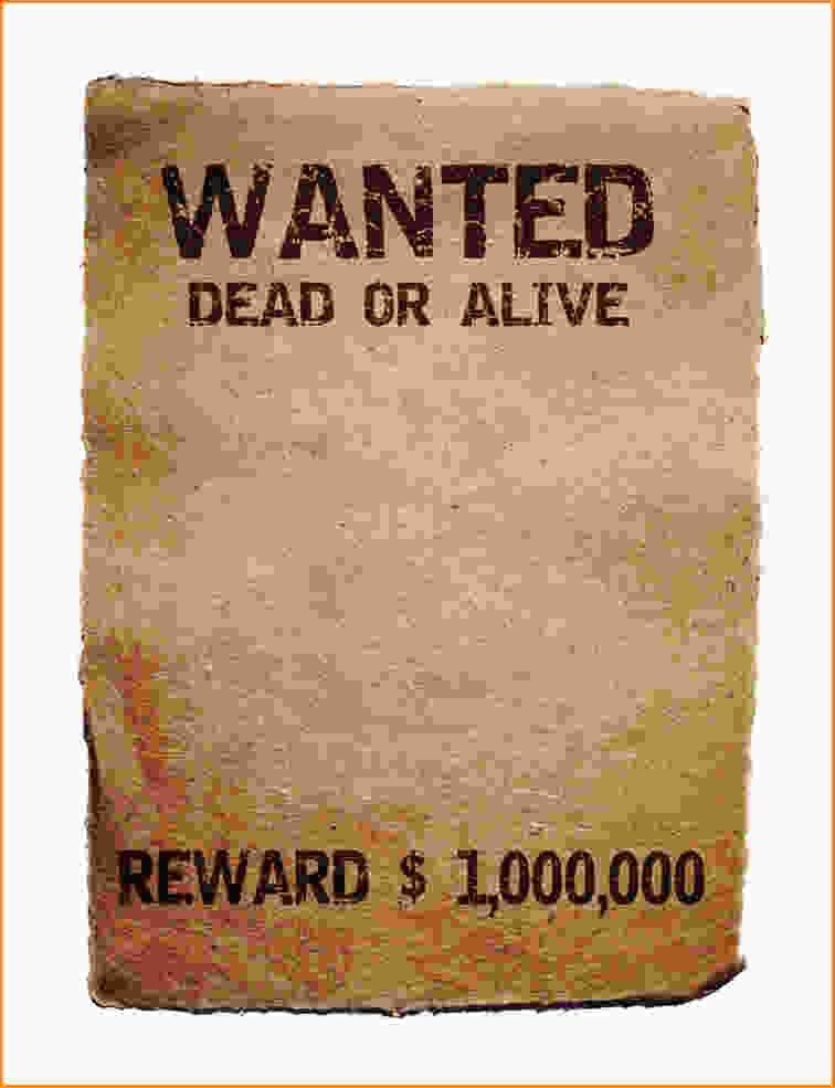 Wanted Poster Template Free.wanted Poster Template.png - Loan ...