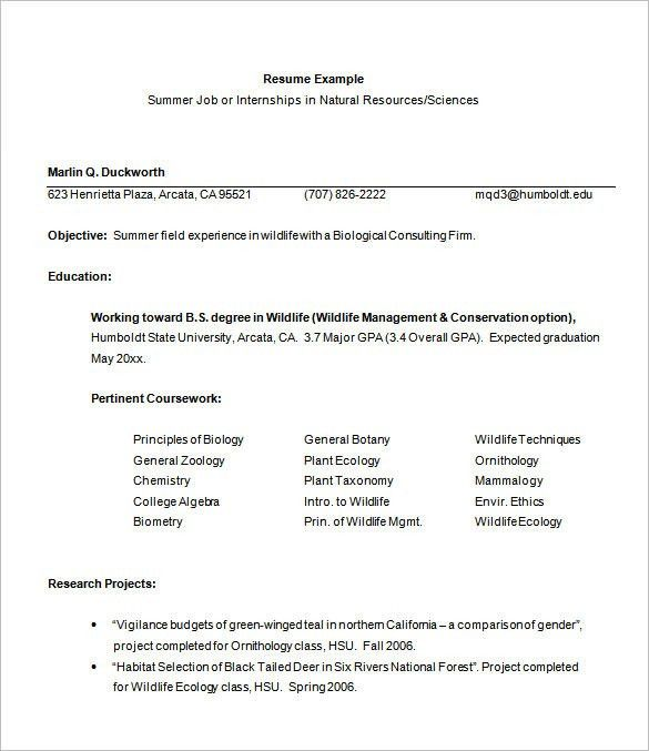 chronological resume example mft internship pg2. sample intern ...