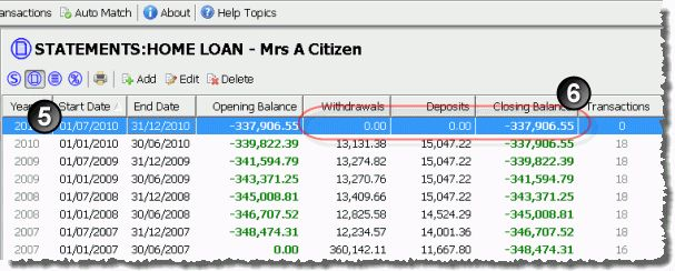 Mortgage Saver Software - Entering Your Loan Details - Help Topic