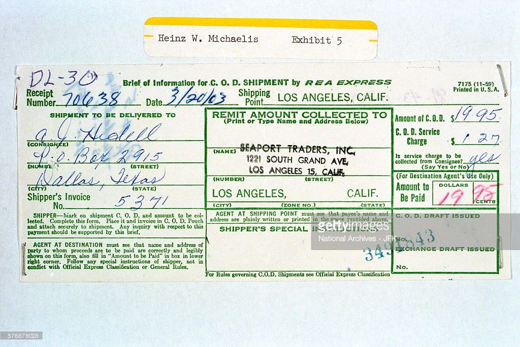 C.O.D. Receipt for Revolver Delivery Pictures | Getty Images