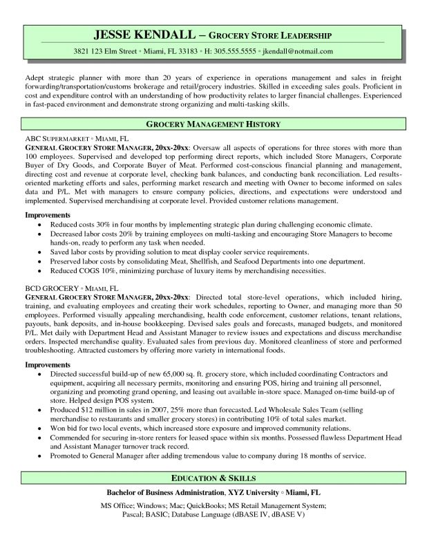 regional retail manager resume samples retail managers