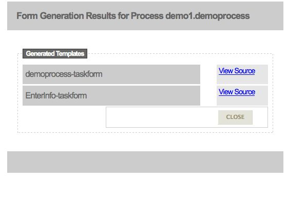 5.8. Generate Process and Task Forms