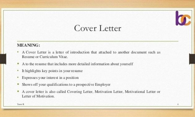 Doc.#638359: What Is The Meaning Of Cover Letter – Cover Letter ...