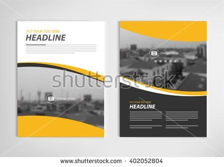 Annual Report Template Design Book Cover Stock Vector 402052804 ...