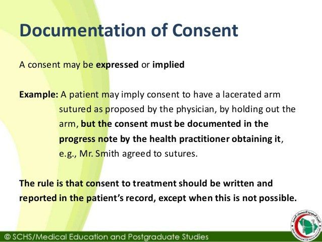 SCHS Topic 4: Informed Consent to Treatment